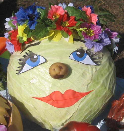 Поделки в детский сад из овощей и фруктов