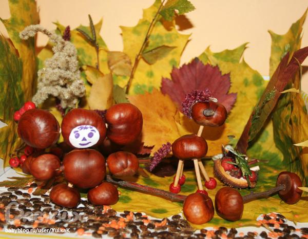 Поделки из природного материала для детского сада своими руками фото