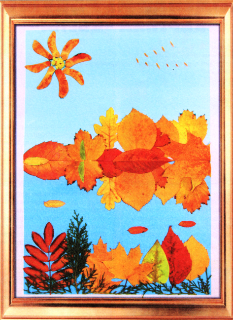 Картина из сухих листьев своими руками